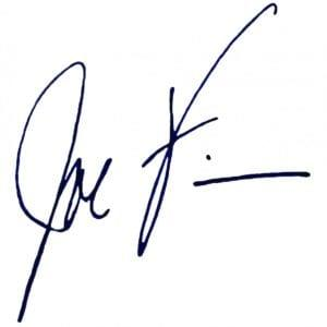 Joe Finn signature